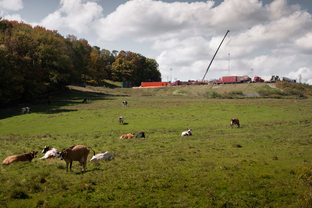 Hydraulic fracturing, Near Dimock, Pennsylvania, USA