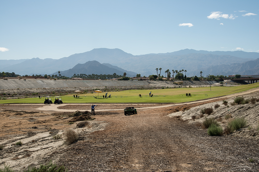 Storm Channel, Indian Springs golf course, Palm Springs, California, USA, 2015