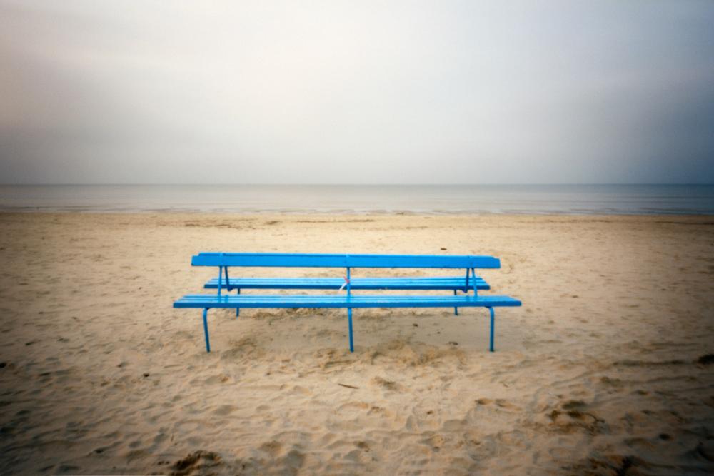 Blue Bench, Jurmala, Latvia