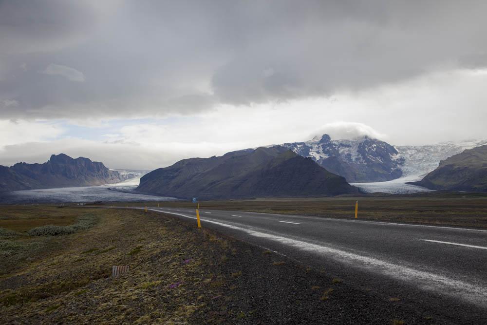 The A1 Road, Hvannadalshnukur Glacier, Iceland