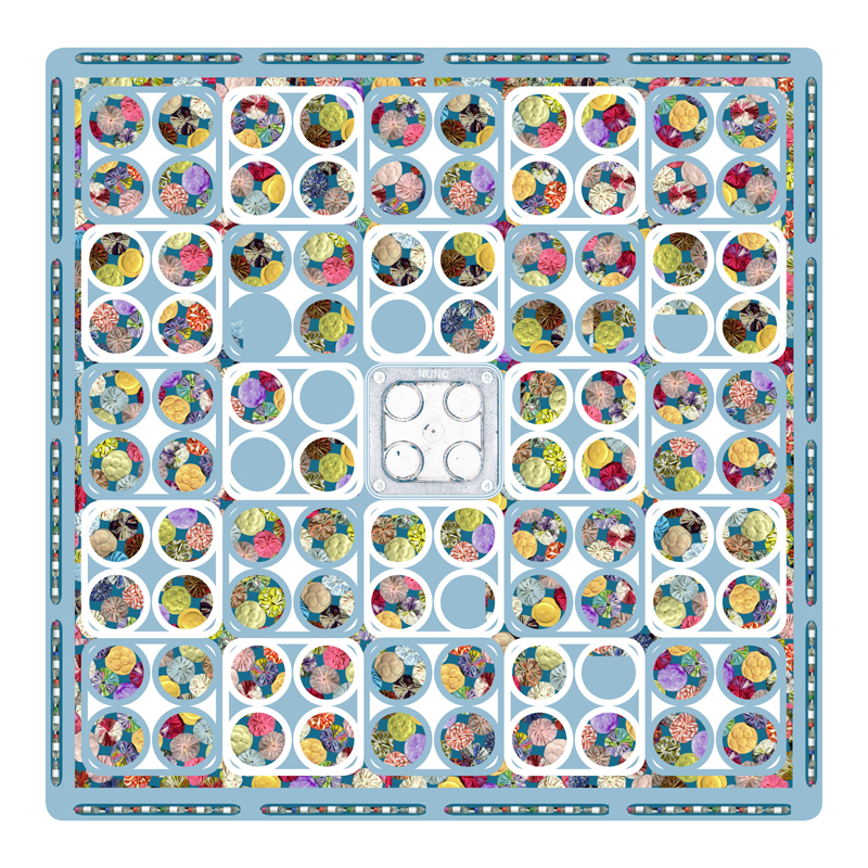 Suffolk puff patchwork and culture dishes