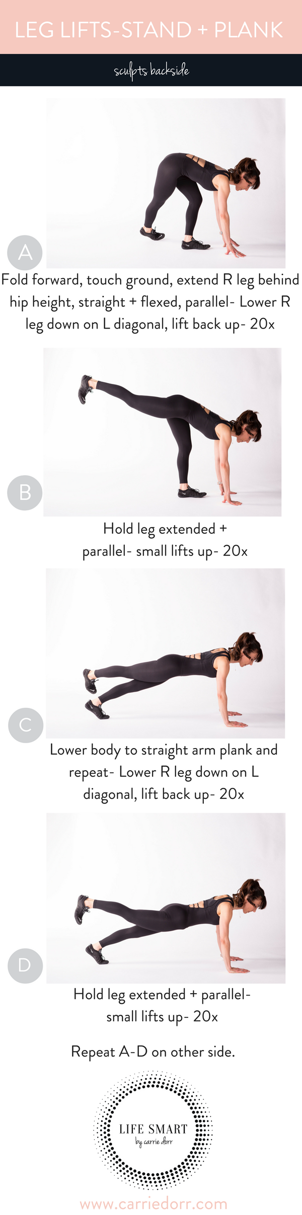 Leg Lifts Stand + Plank-LIFE SMART by Carrie Dorr