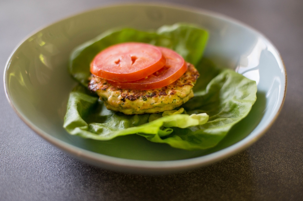 Salmon Wasabi Burger- LIFE SMART by Carrie Dorr