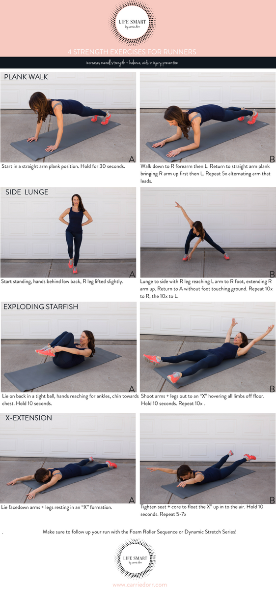 4 Stretch Exercises for Runners- LIFE SMART by Carrie Dorr