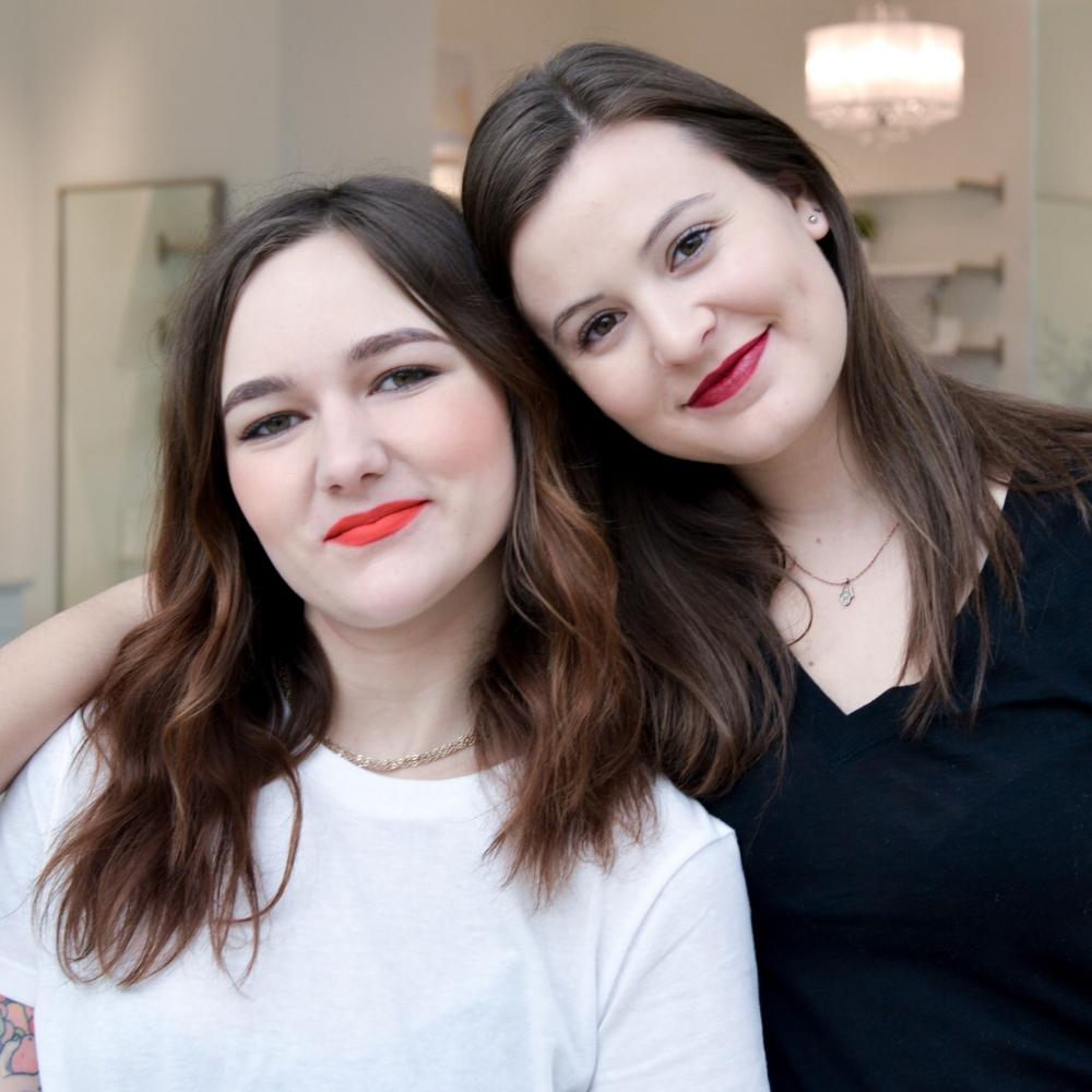 Chloe (left) was wearing Clove + Hallow Fiesta and Hanna (right) is wearing Kosas Darkroom