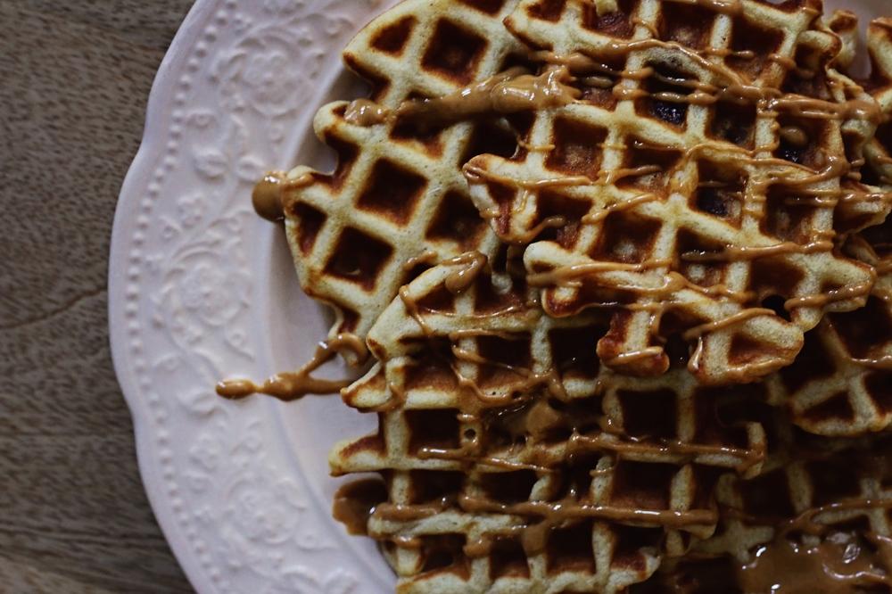 Banana Bread Protein Waffles (Vegan + Gluten Free)-LIFE SMART by Carrie Dorr