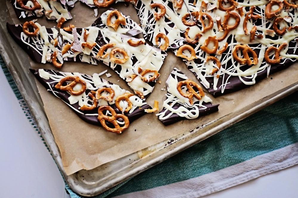 Chocolate Pretzel Bark-LIFE SMART by Carrie Dorr