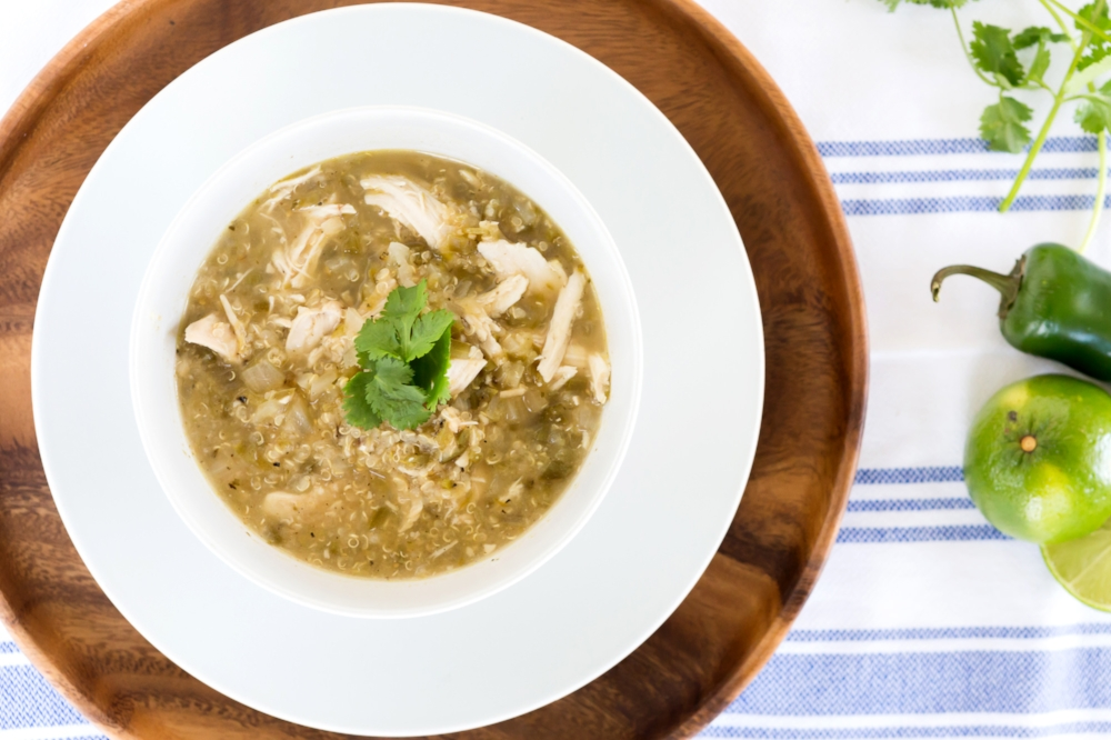Quinoa White Chicken Chili- Slow Cooker-LIFE SMART by Carrie Dorr