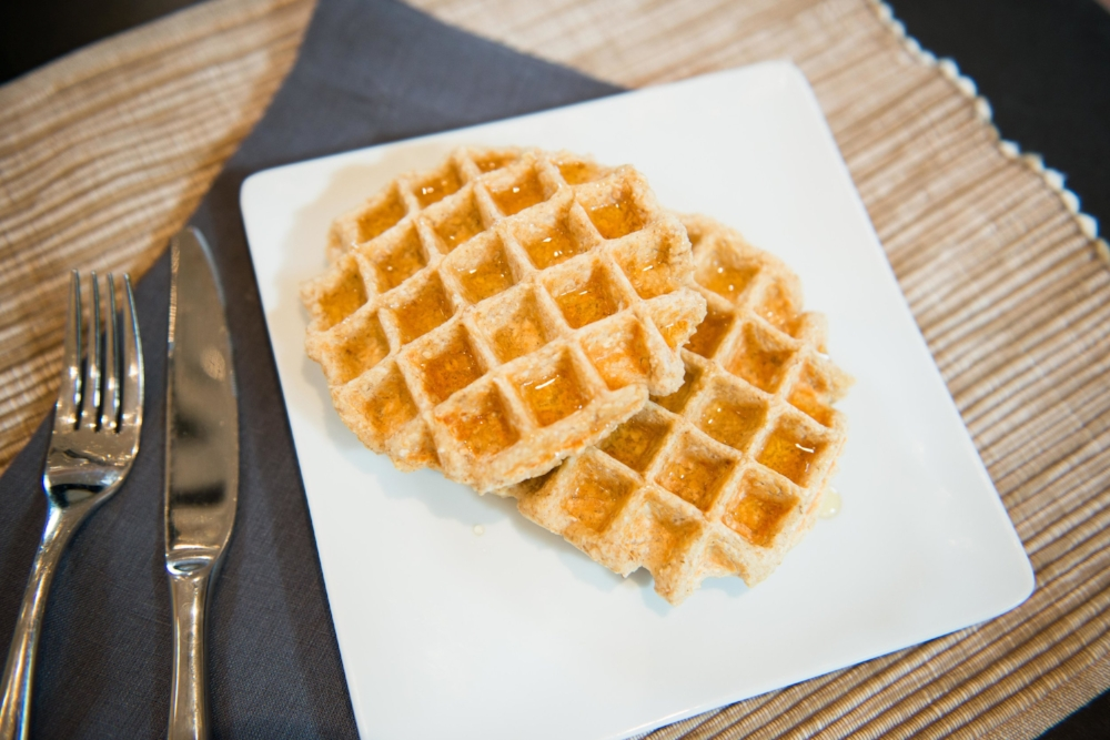 Banana Oatmeal Greek Yogurt Waffles-LIFE SMART by Carrie Dorr