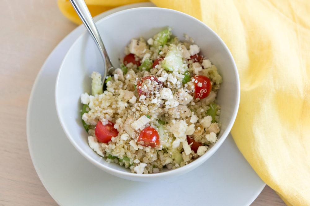 Quinoa Salad with Chicken-LIFE SMART by Carrie Dorr