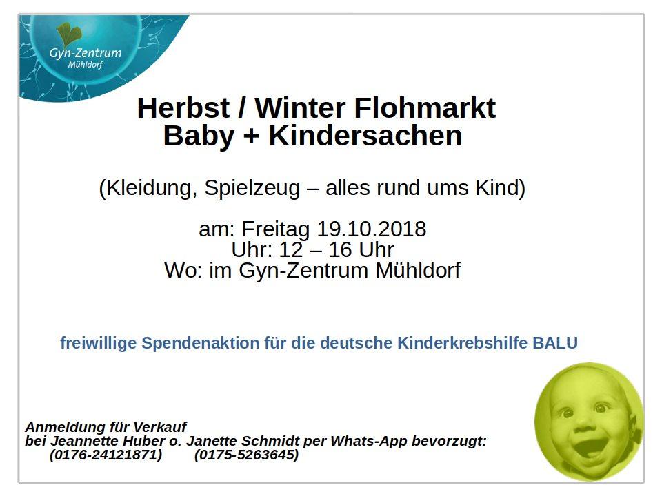 Herbst / Winter Flohmarkt Baby + Kindersachen 2018
