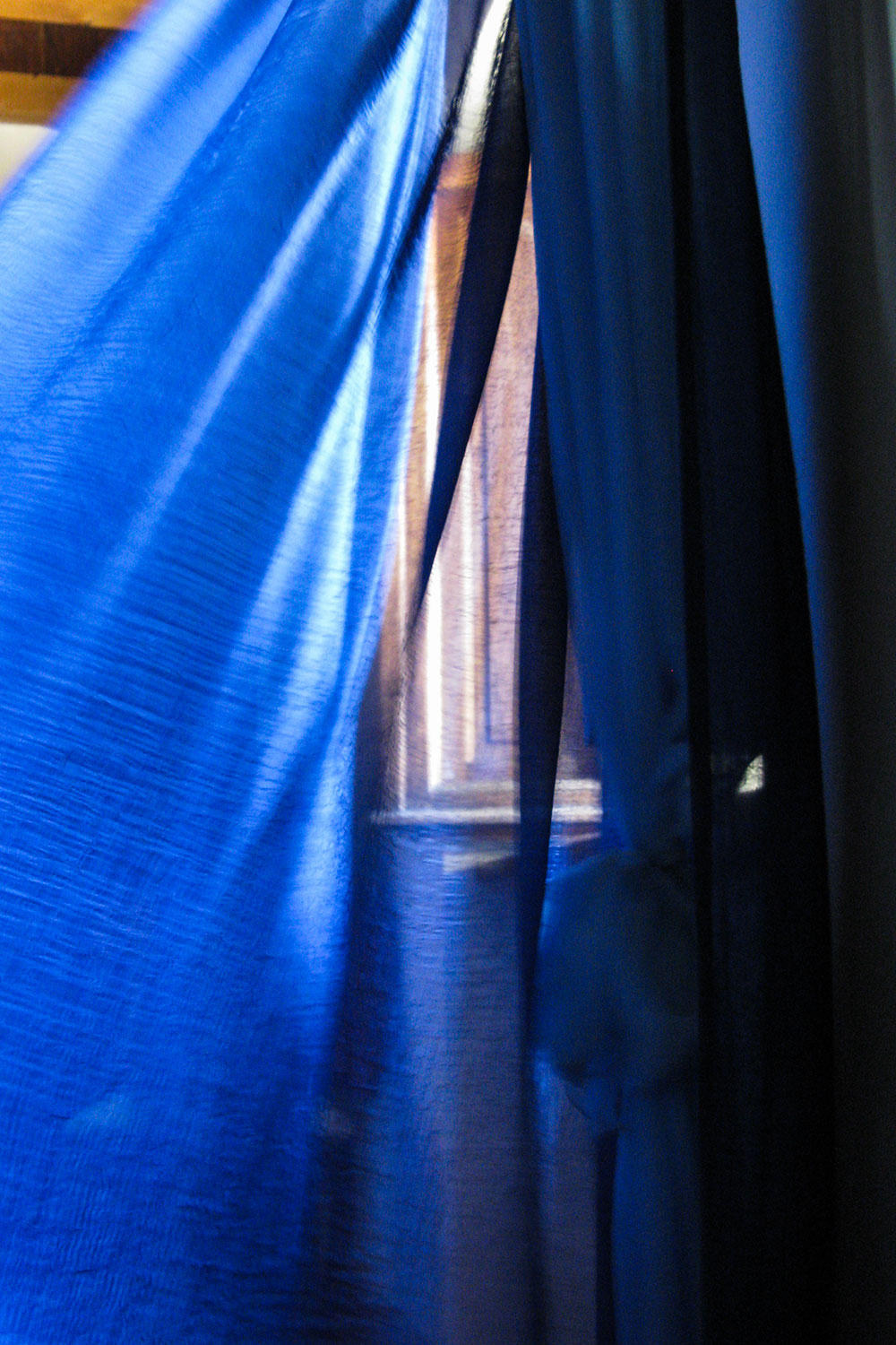 Blue Flowing Curtain