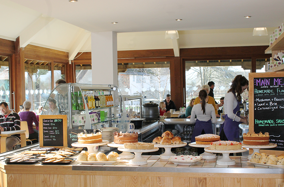Scones, cakes and biscuits at Aston Pottery's café
