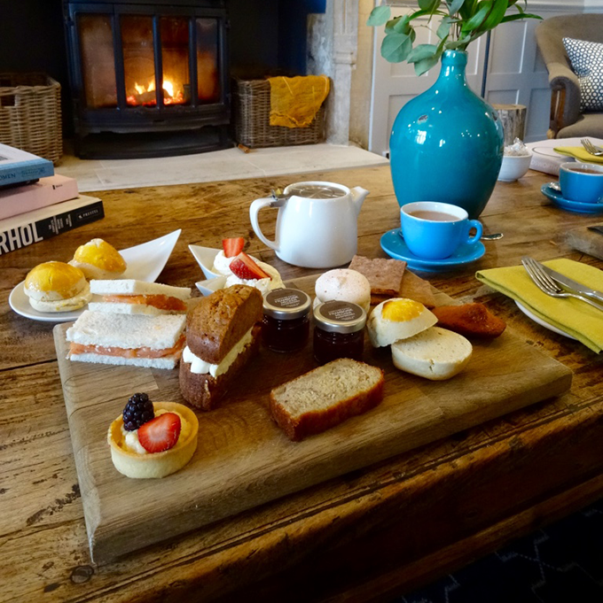 Afternoon tea at the Painswick Hotel & Restaurant