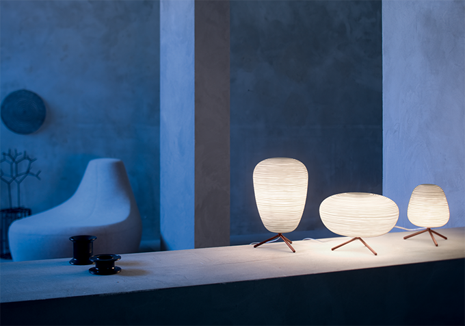 Contemporary lighting can provide both function and style. This Rituals Tavolo room set from Abitalia releases soft lighting, allowing for the ceramic structure of the light itself to become architecturally interesting.