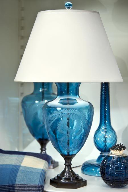 For a classic lamp with a contemporary twist, we love this Urn lamp from Lucy Cope. Lucy has been designing hand blown English crystal lamps and matchstrikes for 22 years.