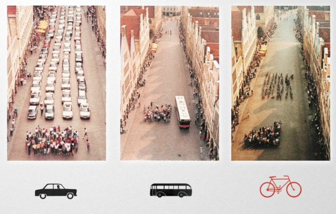 The space of 60 commuters. Image source unknown.