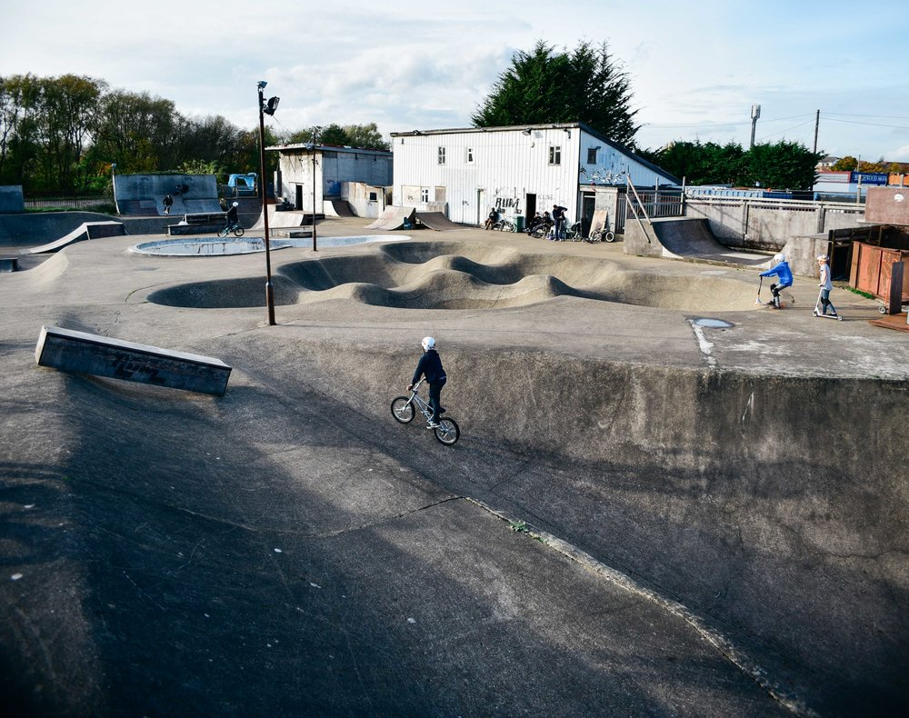 Built in 1977, Romford skatepark has for decades attracted Bmx and skate talent from across the world.
