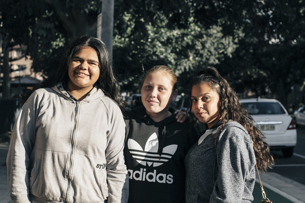 """""""Best thing about Waterloo? All my family and friends live around here. You can walk around at night and feel real safe, 'cause you know, everyone kinda knows everyone"""" - Trinity, Deane and Teana"""