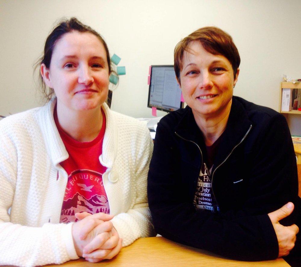 Mary Ellen McAllister and Deanna Fahey of cityLIFE nature kits