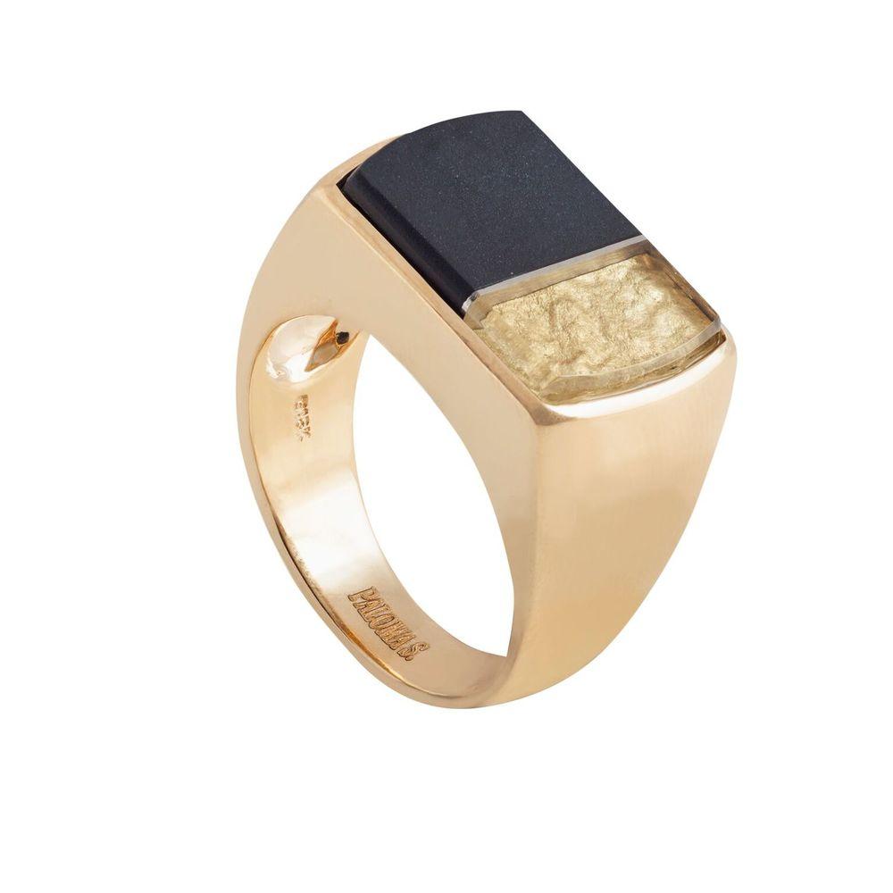 戒指,黑玉,水晶,贝母,18K黄金