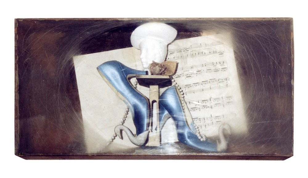 Shoe Box, 1988, mixed media, 75x40cm
