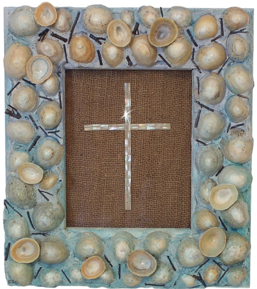 Shell Cross, 1997, mixed media, 36x46cm