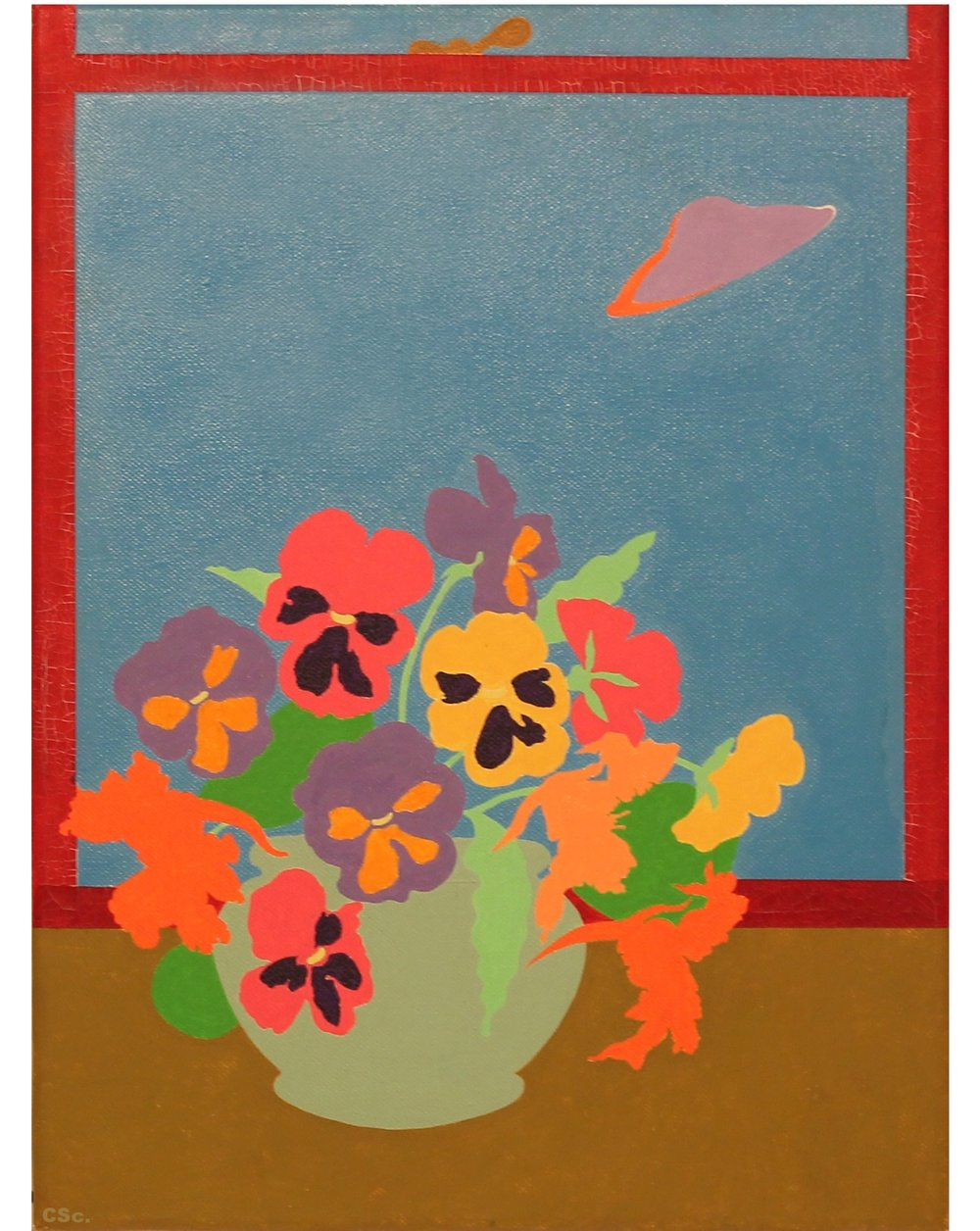 Still Life with Flying Saucer, 2005, acrylic on canvas, 40x30cm