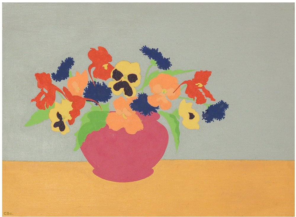 Traveling Flowers, 2005, acrylic on canvas, 40x30cm
