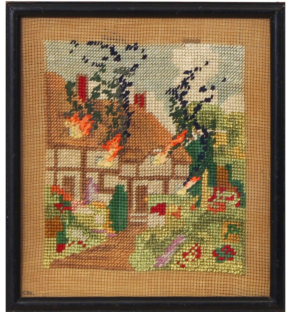 Holiday Home, 2008, embroidery, 20x25cm
