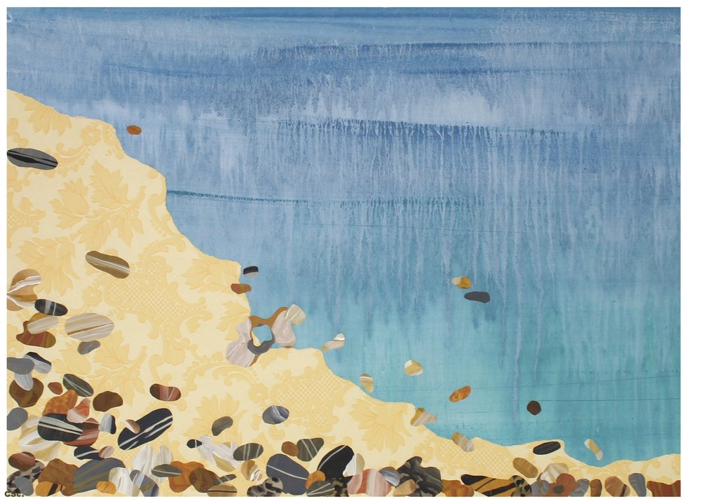 Bembridge Beach, Isle of Wight, 2005, mixed media, 70x55cm