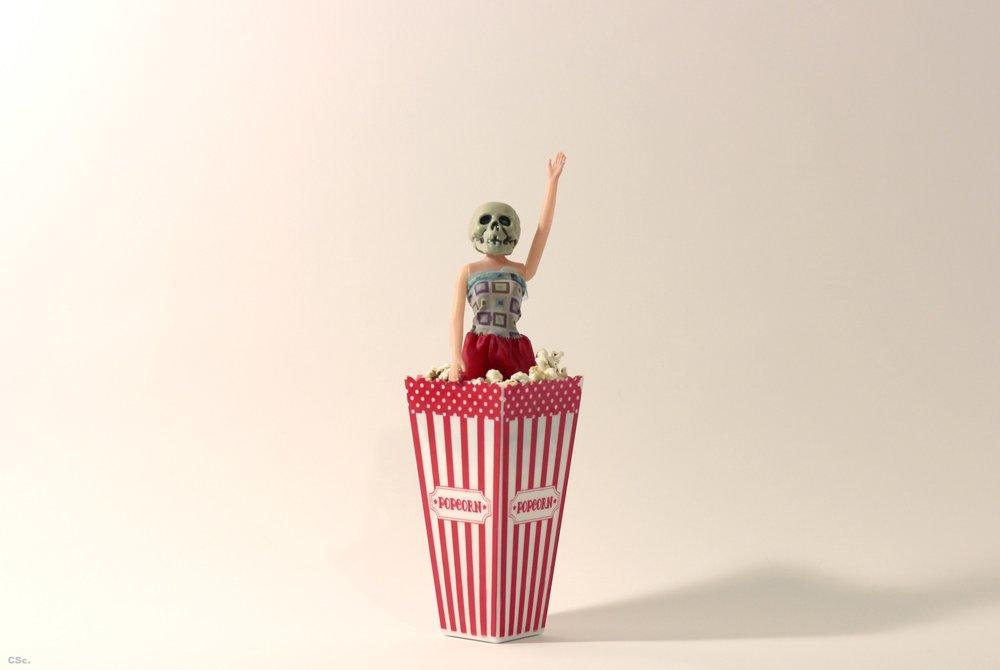 Penny Popcorn, 2016, mixed media, 36x10cm