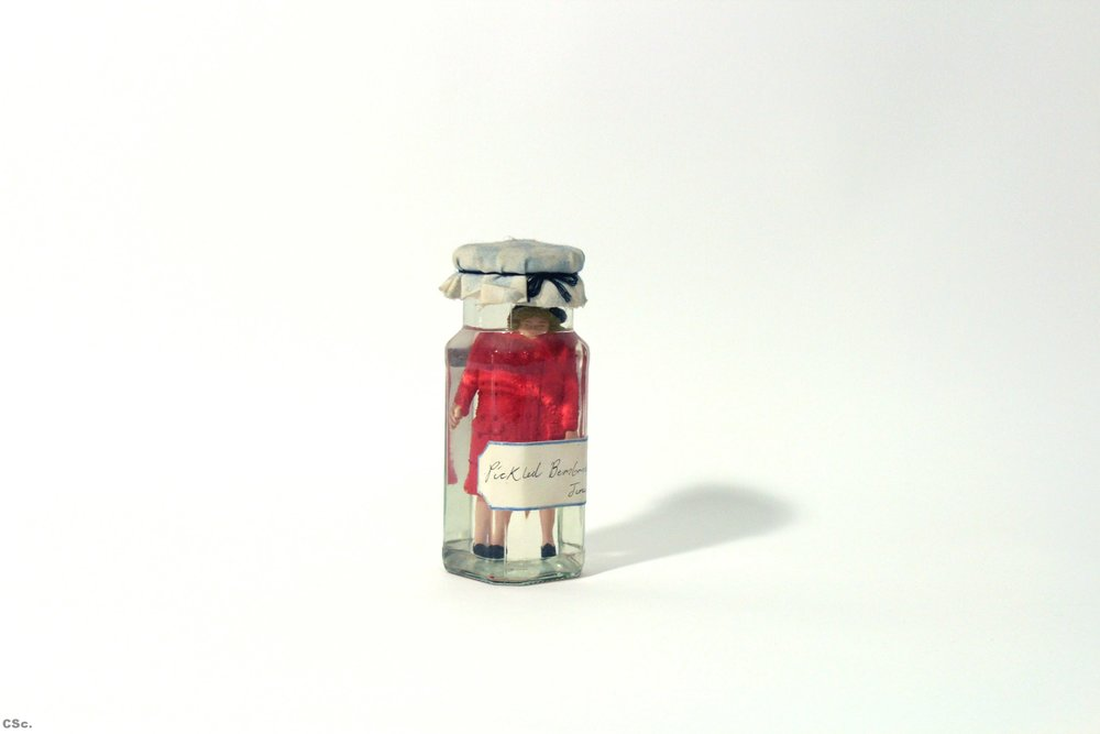 Pickled Bembridge Bag, 2005, mixed media, 15x7cm