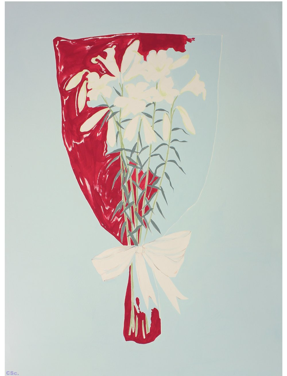 Bleeding Bouquet, 2013, acrylic on canvas, 90x120