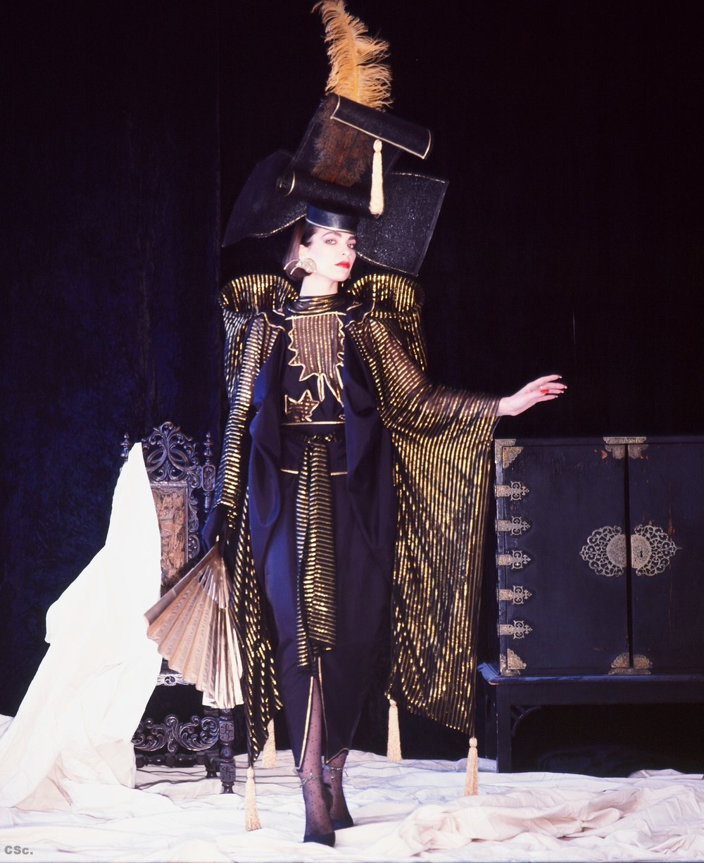 Lynn Spanich in Madam Butterfly Costume from Piccadilly Theatre Show, 1984, photograph by Joe Lyons