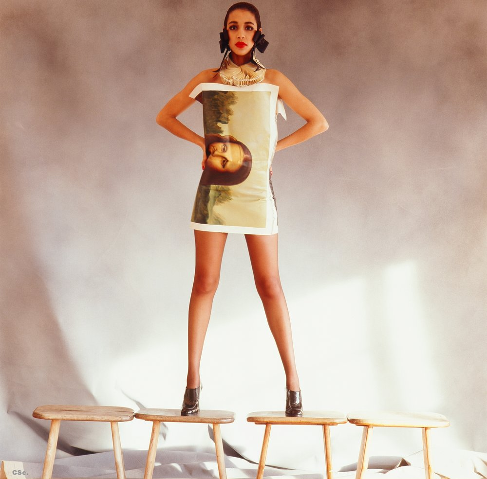 Visit to a Museum, canvas oil painting dress, photo by Joe Lyons, 1988
