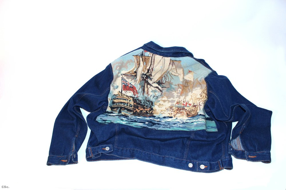 Denim jacket, Battle of Trafalgar, embroidery, 2005