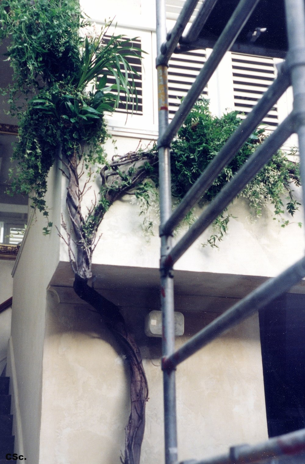 Large Constructed Planted Tree for Restaurant, mixed media, 1991 7.5x4.5m