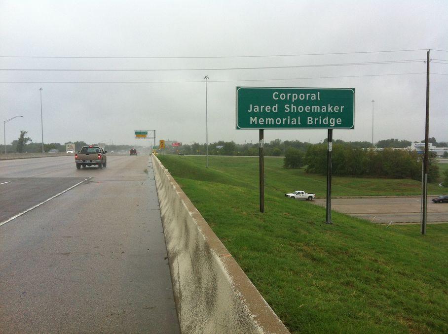 Cpl Jared Shoemaker Memorial Bridge in Tulsa, OK
