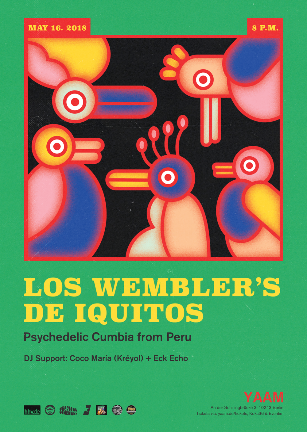 Poster for Wembler's de Iquitos in Berlin