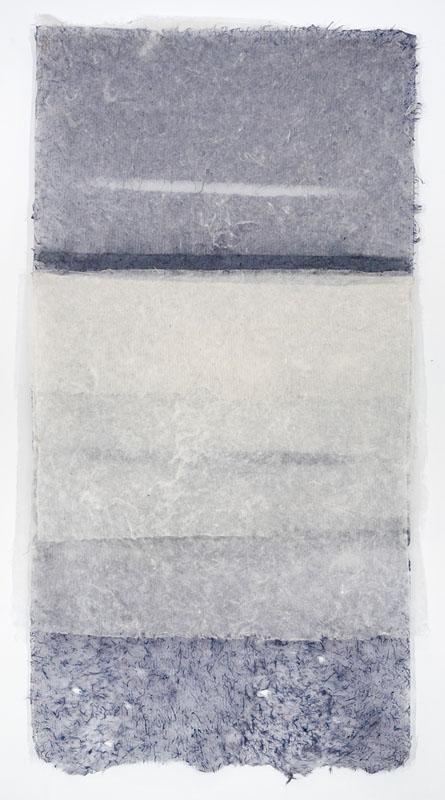 """Cascade (1)   77"""" x 38"""" handmade paper"""