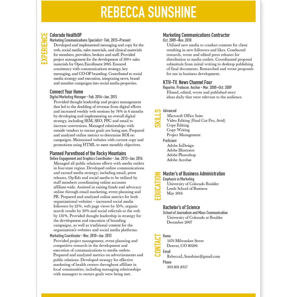 Resume Revamp Shirjoy Creative