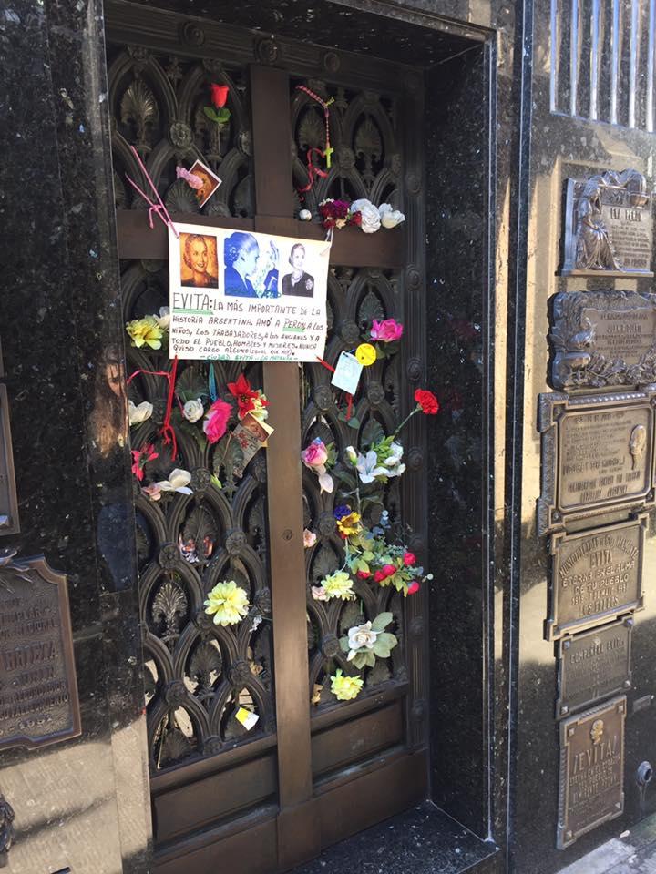 Evita Peron's grave