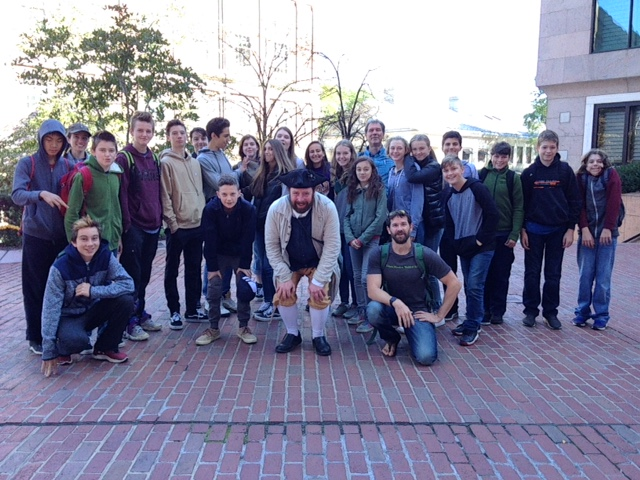 Eighth Grade Trip to Boston, Fall 2017.