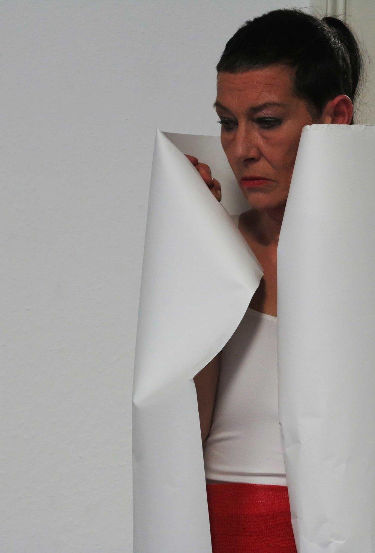 Live Performance  'Fadenkreuz' , BBK Torhaus, Braunschweig,photographed by Prof Ackerman