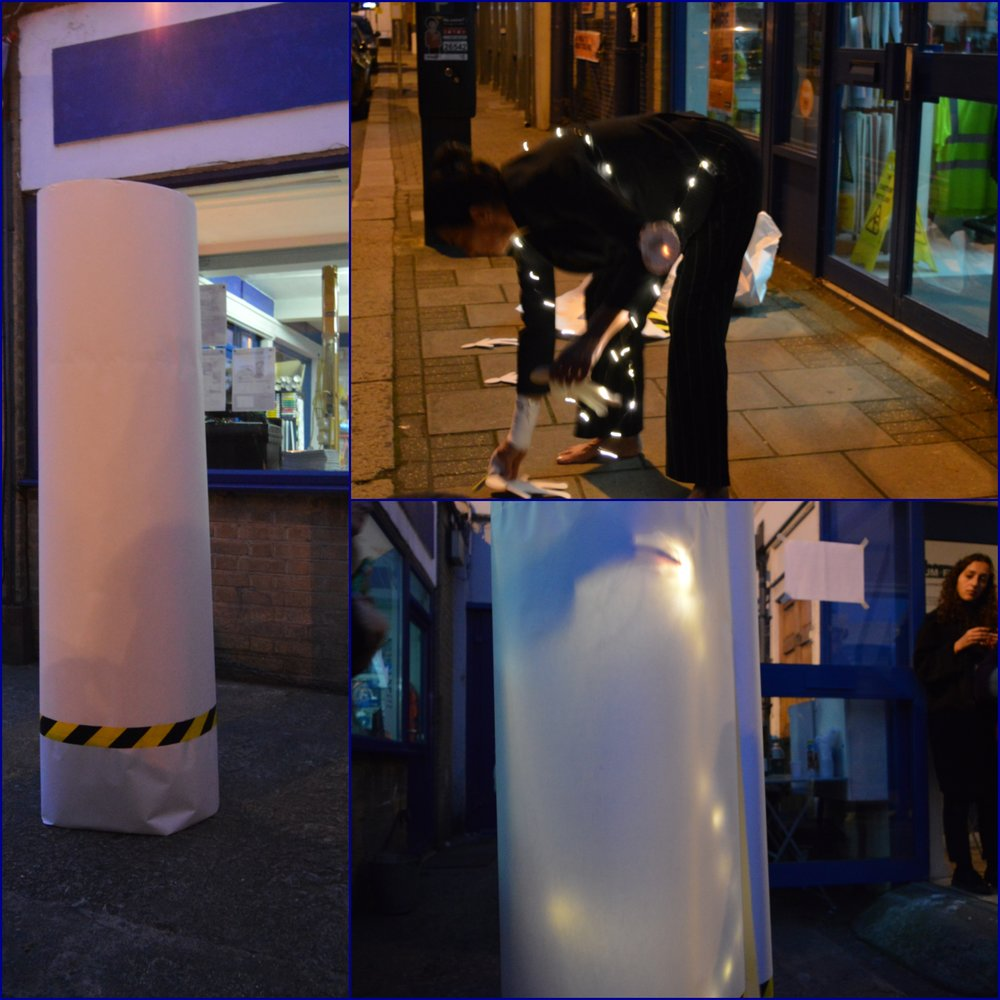 Live Performance,  'Paper Walks, Paper Talks XII (torn apart between) , Razzmatazz 3:::INside Root, Museum of Futures, London
