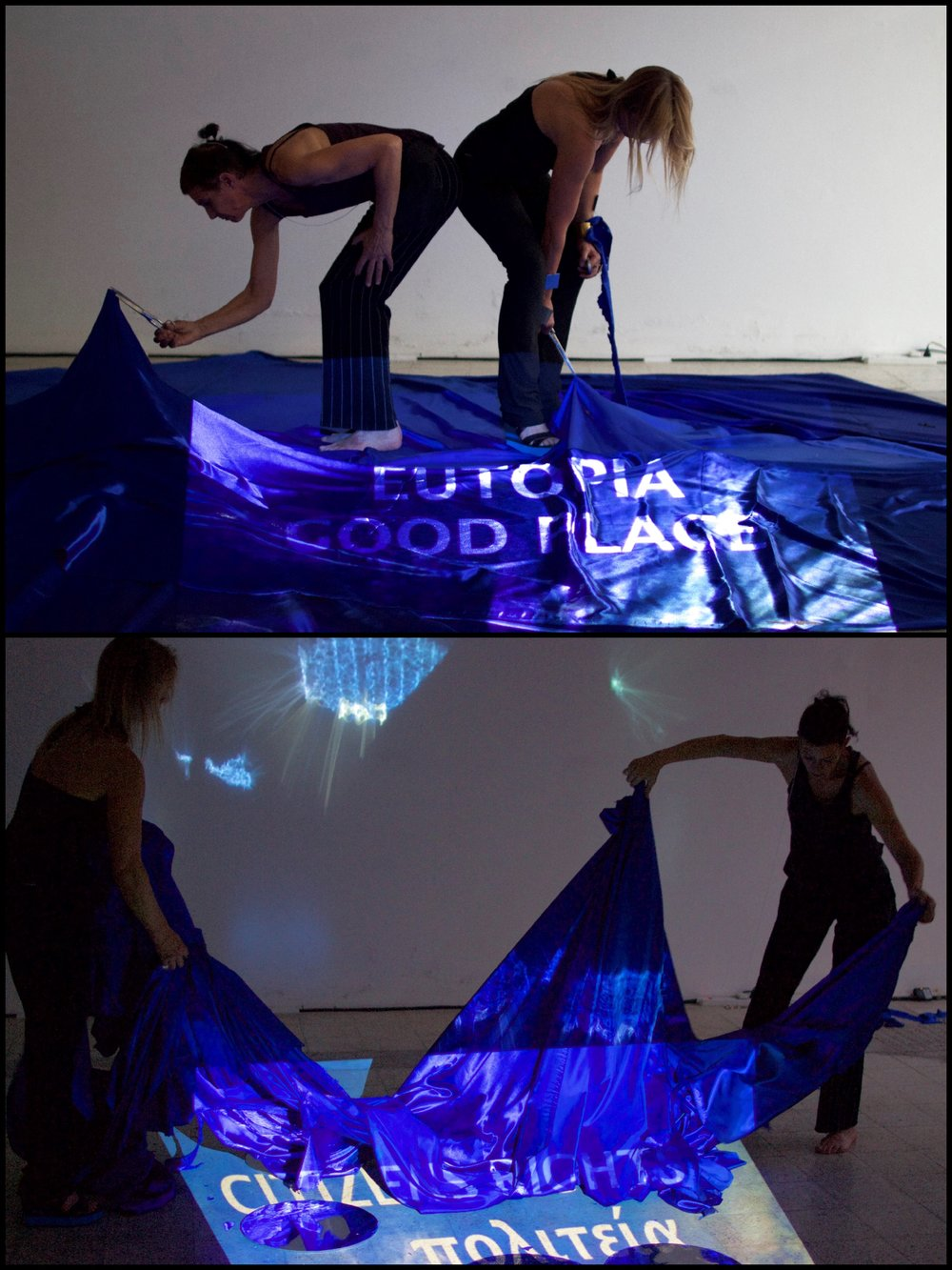 Jungeblut and Glausnitzer-Smith, Live Performance Collaboration -  eurystopia part 1  The Elysian Fields - photographed by Kyriakos Kadis