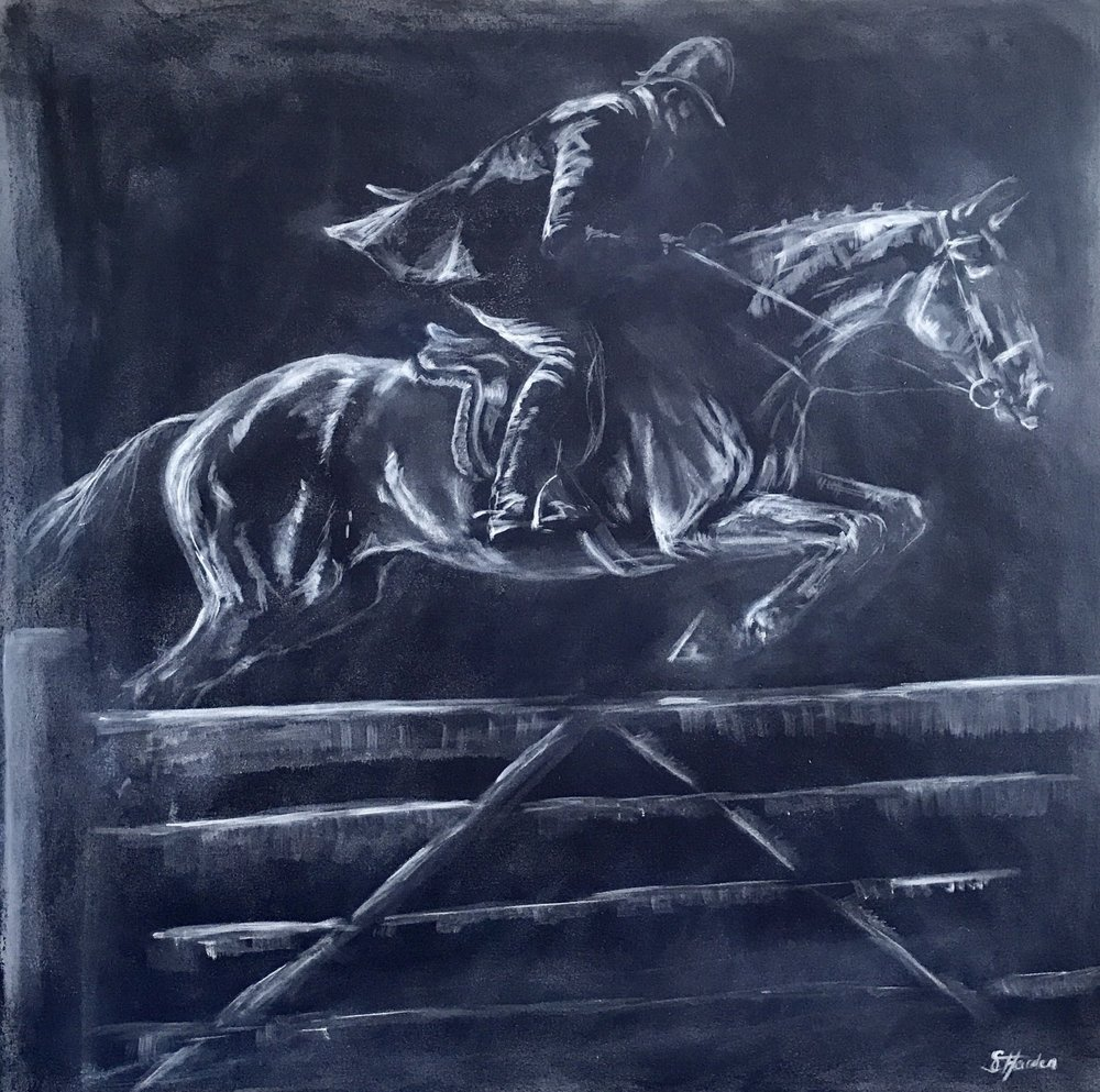 'The Gate Jumper' Oil on Canvas