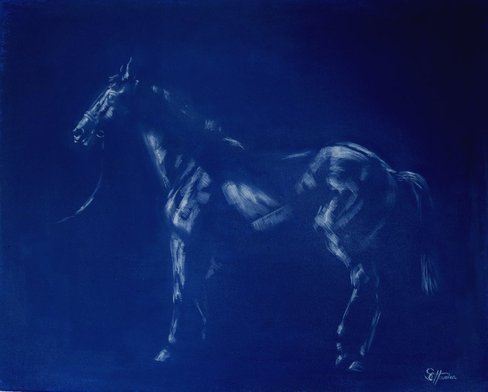 'Colts Will Be Colts' Oil on Canvas SOLD