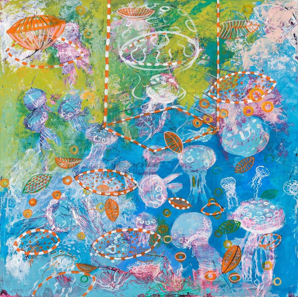 *JellyFish CA, 24 x 24
